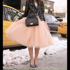 Pink Tulle SkirtPM EDITOR SHARE!  Classy pink tulle skirt! Available in all colors shown in 2nd photo :)! Fits S/M Skirts