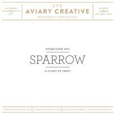 """Pre-made Logo Design  """"Sparrow"""" Boutique Graphic Design / Custom Branding"""