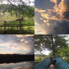 Hooommmmeeeee. For two days lol. Gonna soak it up as hard as I can. #camptimberlake #arkansas #sunset #hammock #gawainrapscallion #happy #nofilter by sjtuckermusic