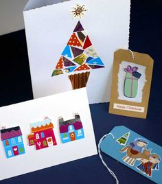 Recycled Christmas Card | Card card, Cards and Christmas cards
