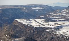 Here's the Telluride airport, where my hero lives part-time.