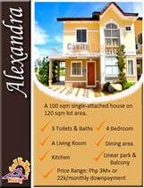 Floor Area:100 sqm Lot Area:120 sqm Bedrooms:4 Toilets:3  ALEXANDRA MODEL HOUSE No cash out on downpayment, Installment basis at 0% interest. Only PHP 23k-24k monthly DP. - Kayang kaya mo na! Less than 30 minutes from Baclaran, SM Mall of Asia and Airport thru the NEW CAVITEX Expressway - shortcut way to avoid traffic hours along Bacoor! Contact us for free site tripping: Globe: 0917-8534875 ; Smart: 0999-9943304