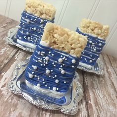 12 Royal Blue Pearl Bubble Birthday Party Rice Crispy Krispie Treats Party Favors Sweets Table Candy Buffet Nautical Under the Sea Bubble Birthday Parties, Sweet 16 Birthday, Pearl Birthday Party, Sonic Birthday, Bubble Party, Blue Birthday, 16th Birthday, Birthday Wishes, Birthday Cake