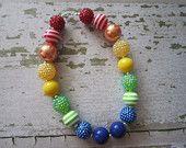 Rainbow Chunky Bead Necklace
