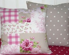 Two++Shabby+Chic+Cushion+Covers+16+inchThow+by+AllTheTrimmingsUK