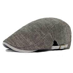 d5fa04e5dc8 Men Cotton Beret Hat Buckle Adjustable Paper Boy Newsboy Cabbie Golf  Gentleman Cap at Banggood News
