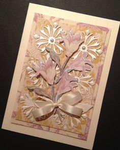 Glittered Floral Card with Anna Griffin Papers