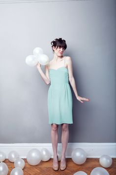 This would be a cute bridesmaids dress! Wish it had more detail to it, but I love the color!