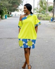 Check Out this Simple Ankara Short Gown Styles .Check Out this Simple Ankara Short Gown Styles African Fashion Ankara, African Print Dresses, African Print Fashion, African Dress, Ankara Short Gown Styles, Trendy Ankara Styles, Short Gowns, African Attire, African Wear
