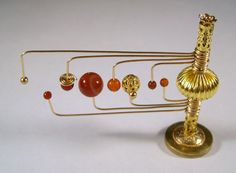 Miniature Medieval Movable Orrery Gold Ooak Dollhouse Mini You Can Move The Planets Dollhouse Miniature Tutorials, Dollhouse Miniatures, Haunted Dollhouse, Halloween Miniatures, Fantasy House, Minis, Witch House, Miniture Things, Dollhouses
