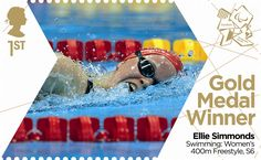 Ellie Simmonds: Swimming 2012 #SpecialStamp #Paralympics #RoyalMail