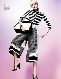 Hanne Gaby Odiele Sports Sixties Chic for S Magazine