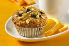 Blueberry Oat Flaxseed Muffins- With blueberries, oats, flaxseed and a zesty hint of orange, these muffins aren t just for mornings.
