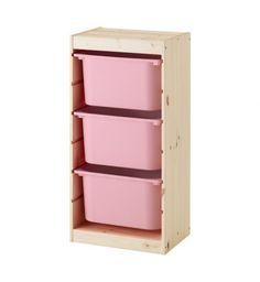 IKEA TROFAST Storage Combination 44X30CM Pine Pink