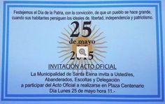 SANTA ELENA: EL ACTO DEL 25 DE MAYO SE REALIZARÁ EN LA PLAZA CENTENARIO - SANTA ELENA DIGITAL