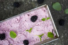 Fig, Coconut and Blackberry Ice Cream