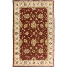 Surya Hand-Tufted Isamu Bordered Wool Rug (6' x 9') (