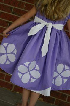Sofia the First Dress up Dress/Costume Sizes 6, 7, 8. $60.00, via Etsy.