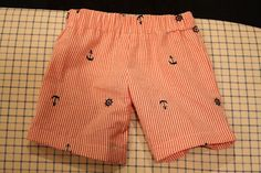Free shorts pattern for boys (or girls really) 4T - tutorial also