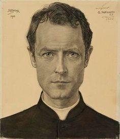 Jan Toorop - portret van Charles Raaijmakers - Museum Het Valkhof Nijmegen