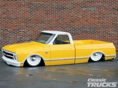 1968 Chevy C10 Pickup Truck Lowered Truck - I've always been partial to yellow and white!