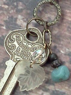 Keys and beads make a cute pendant