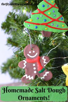 homemade gift idea salt dough ornaments