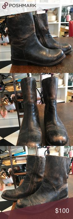 Bed Stu Newark Leather Moto Boots size 7.1 2 These have been worn only 4  times 6d997d9342376