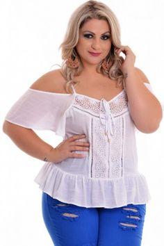Blusa Plus Size Ciganinha Luara