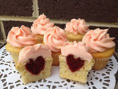 Strawberry champagne cupcakes #whippedwithlove #heart #vday
