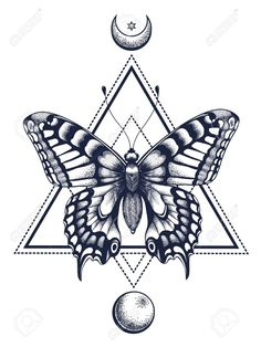 Butterfly tattoo and t-shirt design. Butterfly in a triangle, above is . - Butterfly tattoo and t-shirt design. Butterfly in a triangle, top is half … – Butterfly tattoo - Butterfly Drawing, Butterfly Tattoo Designs, Tattoo Designs Men, Shirt Designs, Butterfly Design, Mariposa Butterfly, Simple Butterfly, Vintage Butterfly, Monarch Butterfly