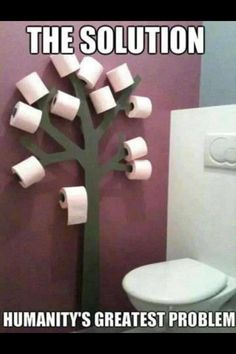 Problem solved toilet roll holder