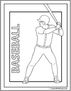 baseball coloring pages for kids.html