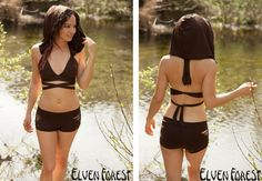 Hooded Swimsuit Bikini Top with Convertible Wrap and Tie Straps- Hood is removable I want everything in this etsy shop. It's amazing!
