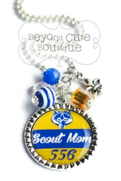 Personalized SCOUT MOM or Leader NECKLACE on Etsy, $15.50