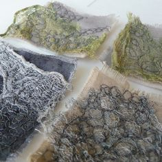 Love seeing the process - Small seashore backgrounds in progress by Kirsten Chursinoff, via Flickr