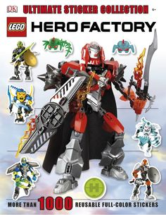 LEGO® Hero Factory Ultimate Sticker Collection Dk Books, Dk Publishing, Hero Factory, Legoland, Nonfiction Books, Sticker Books, Stickers, Illustration, Character