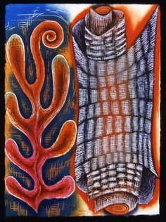 """Written Word"" woodcut by Karen Kunc"