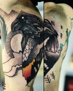 Katarzyna Krutak Raven tattoo