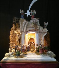 A traditional Italian presepe.