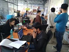 Visitors at makerspace and the busy students. Arduino, Creativity, Students, Explore, Activities, Electronics, Education, Business, How To Make