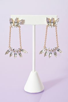 Chained Crystal Earrings omg LOVE THESE!