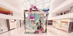 Cairo Festival City Mall Spring 2019 on Behance Cairo Festival, Chinese New Year Design, Gatsby Theme, Visual Display, Store Displays, Stage Design, Photo Booth, Mall, Backdrops