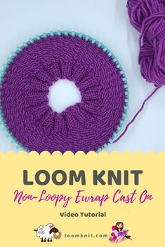 Learn to create a non-loopy ewrap cast on for any project : Learn to create a n. Learn to create a non-loopy ewrap cast on for any project : Learn to create a non-loopy ewrap cast Round Loom Knitting, Loom Knitting Stitches, Knifty Knitter, Loom Knitting Projects, Sock Knitting, Knitting Tutorials, Knitting Machine, Cross Stitches, Vintage Knitting