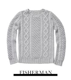 Kule  Scottie Cashmere Fisherman's Sweater in Grey