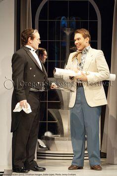 Oregon Shakespeare Festival. ANIMAL CRACKERS (2012): Jonathan Haugen and Eddie Lopez. Photo: Jenny Graham.