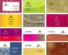variety of business card templates vector