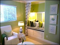Closet converted into a bed and storage! Click for more ideas!