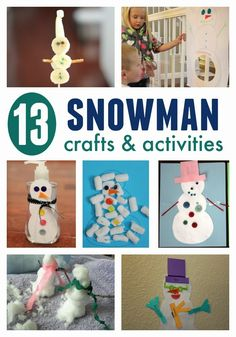 Toddler Approved!: 13 Snowman Crafts & Activities for Kids