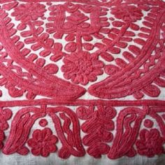 Antique Embroidered Cushion Cover ......